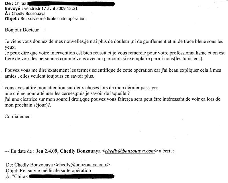 Dr Chedly Bouzouaya | Testimonials